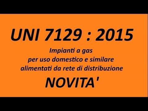 UNI 7129 : 2015 - Testo Unico Gas - Novità e Riflessioni