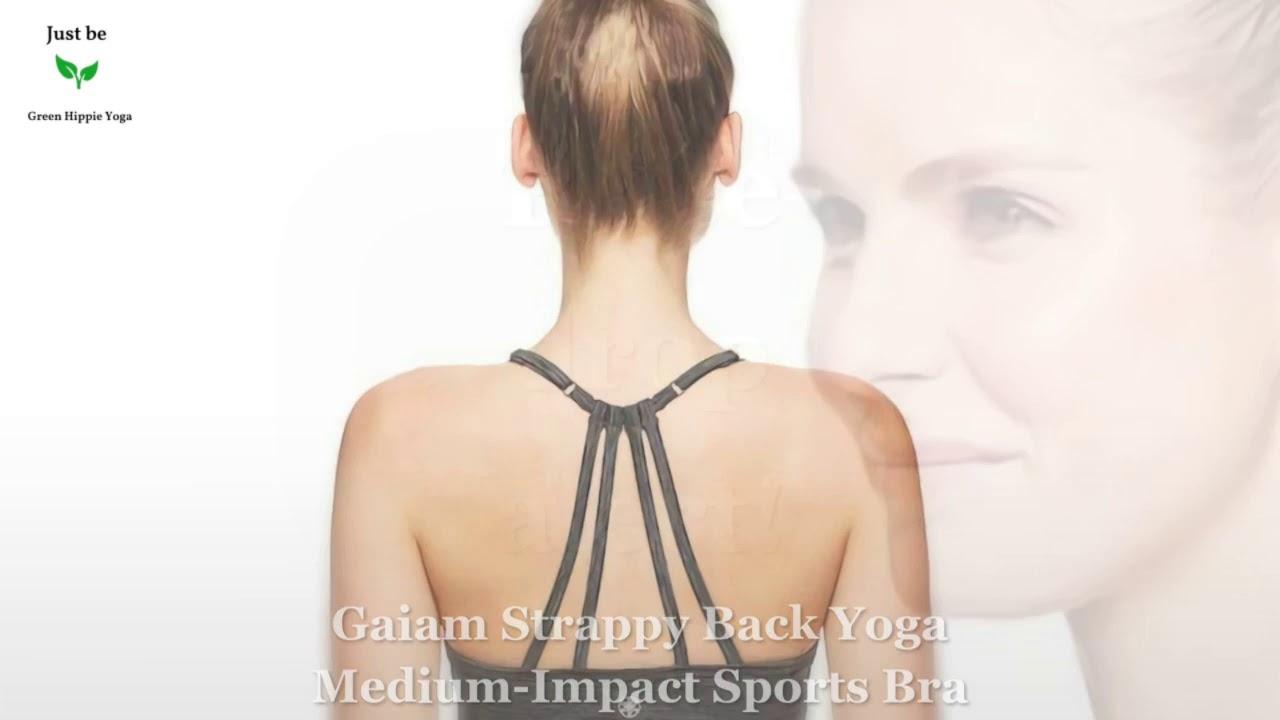 Gaiam Strappy Back Yoga Medium-Impact Sports Bra 22/07/2019 19:9