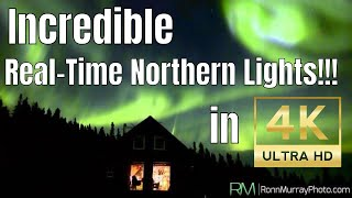 Incredible Northern Lights filmed over Fairbanks, Alaska in Real-time 4K