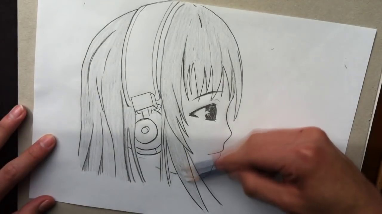 Como Dibujar Manga 3 Cara Vista De Perfil Youtube