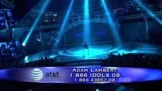 Top 8 Adam Lambert Mad World STUDIO RECORDING Full Version