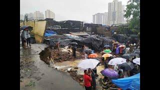 Heavy rains in Mumbai cause wall collapse that kills 13