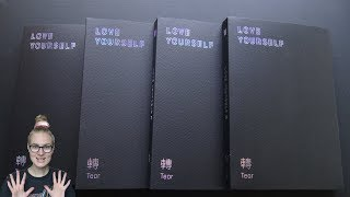 Unboxing BTS (Bangtan Boys) 방탄소년단 3rd Studio Album Love Yourself 轉 Tear (All Y, O, U & R Editions)