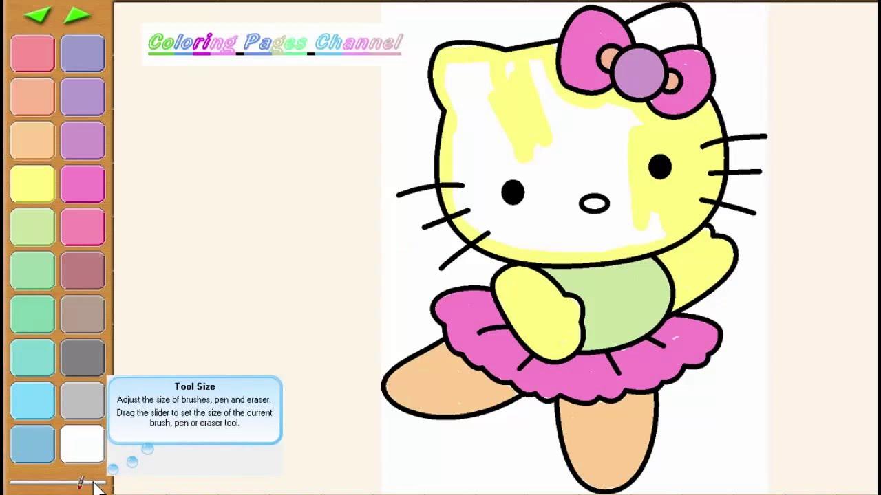 hello kitty coloring pages - hello kitty kleurplaten - hola gatito ...