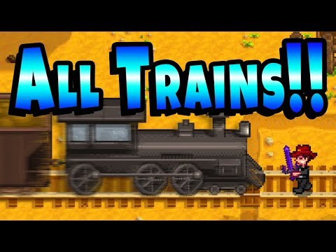 All The Trains! Including Rare Present Train! - Stardew Valley