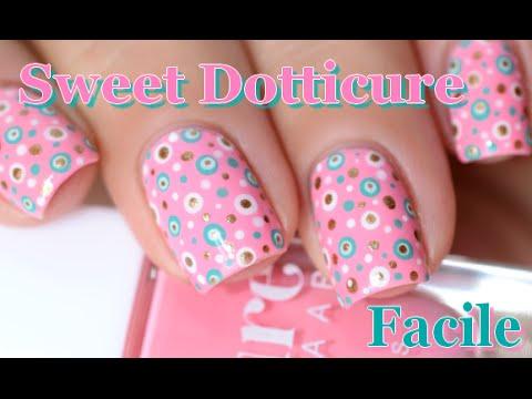 Nail Art Sweet Dotticure Easy Polka Dot Nails Tutorial Melyne Nailart