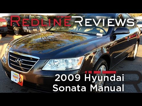 2009 Hyundai Sonata Manual Review, Walkaround, Exhaust, Test Drive