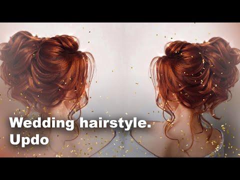Wedding Hairstyle. Updo. Свадебная прическа Средний пучок