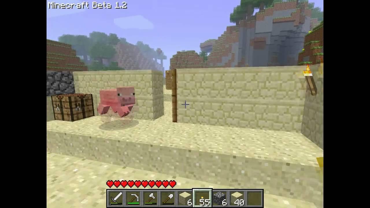 Minecraft Туториал 3 (1) Как построить дом, шахта,хлеб