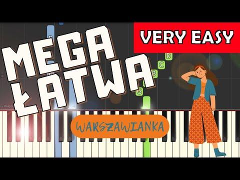 🎹 Warszawianka - Piano Tutorial (MEGA ŁATWA wersja) 🎹