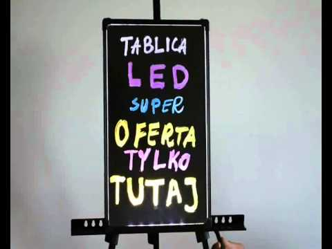 Wspaniały Tablica reklamowa LED fluorescencyjna - plexi. Idealna forma DF03