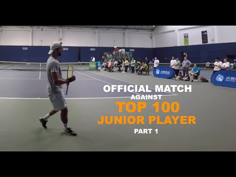 Official Tennis Match Against World Top 100 Junior Player | Part 1 (TENFITMEN - Episode 107)