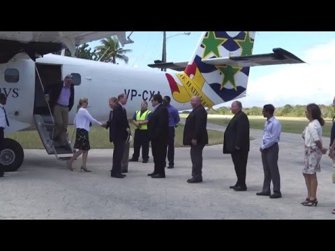 Royal couple arrives in Little Cayman to visit Central Caribbean Marine Institute