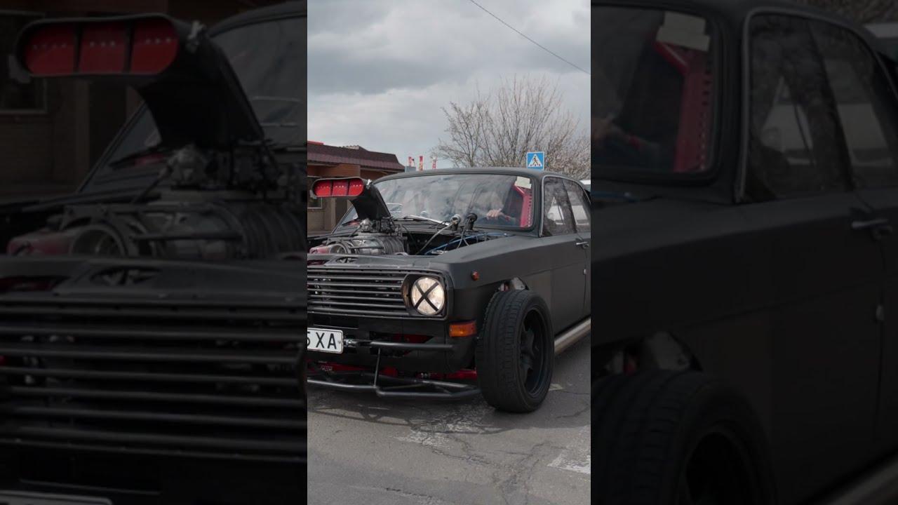 Волга с v8   Самая быстрая в мире Волга для дрифта   Тюнинг - 5л мотор ГАЗ Tuning Volga v8   #shorts
