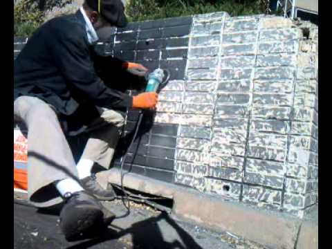 5300 Grinding Paint Off Brick Youtube