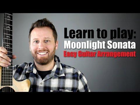 Moonlight Sonata Guitar Tutorial - Easy to Play Arrangement!