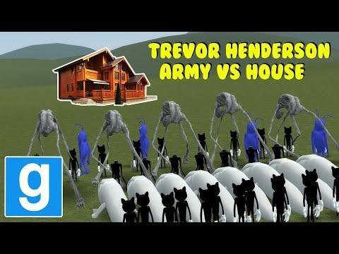 TREVOR HENDERSON ARMY VS HOUSES! - Garry's Mod Sandbox