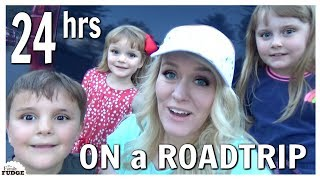 24 HOURS WITH 4 KIDS ON A ROAD TRIP!