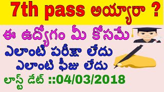 latest 7th pass jobs ANDRAPRADESH GROUP-4 Notification for Office Subordinate/Watchman/Chowkidar