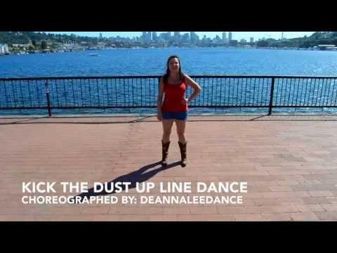 Kick The Dust Up Line Dance (Teach & Demo)