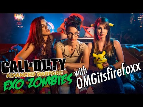Call of Duty Advanced Warfare: Zombies With OMGitsfirefoxx - Game Night at The Mansion