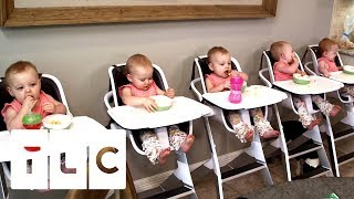 🔴Feeding And Bathing 5 Babies | Outdaughtered