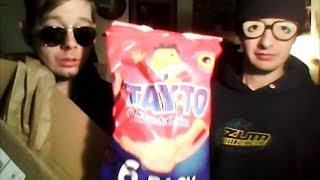 American Guys Review Ireland's Best Snack + Junk Foods, Lucozade, Tayto Crisps, & Cadbury Snack