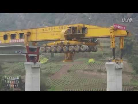 Bridge construction in China.