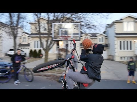 CRAZY NO HAND BASKETBALL WHEELIE SHOT