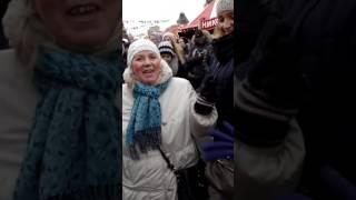 танцы на Красной Площади (Таня и мама) масленица 25.02.17