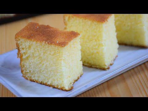 Vanilla sponge cake | Hot milk sponge cake | Easiest plain cake