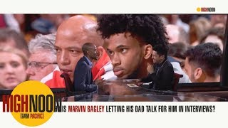 Why is Marvin Bagley III letting his dad talk for him in interviews? | High Noon | ESPN