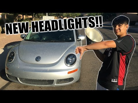 AFTERMARKET HEADLIGHT INSTALL ON THE VW BEETLE/BUG