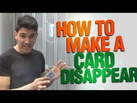 How To Make A Card Disappear : Cool Magic Revealed