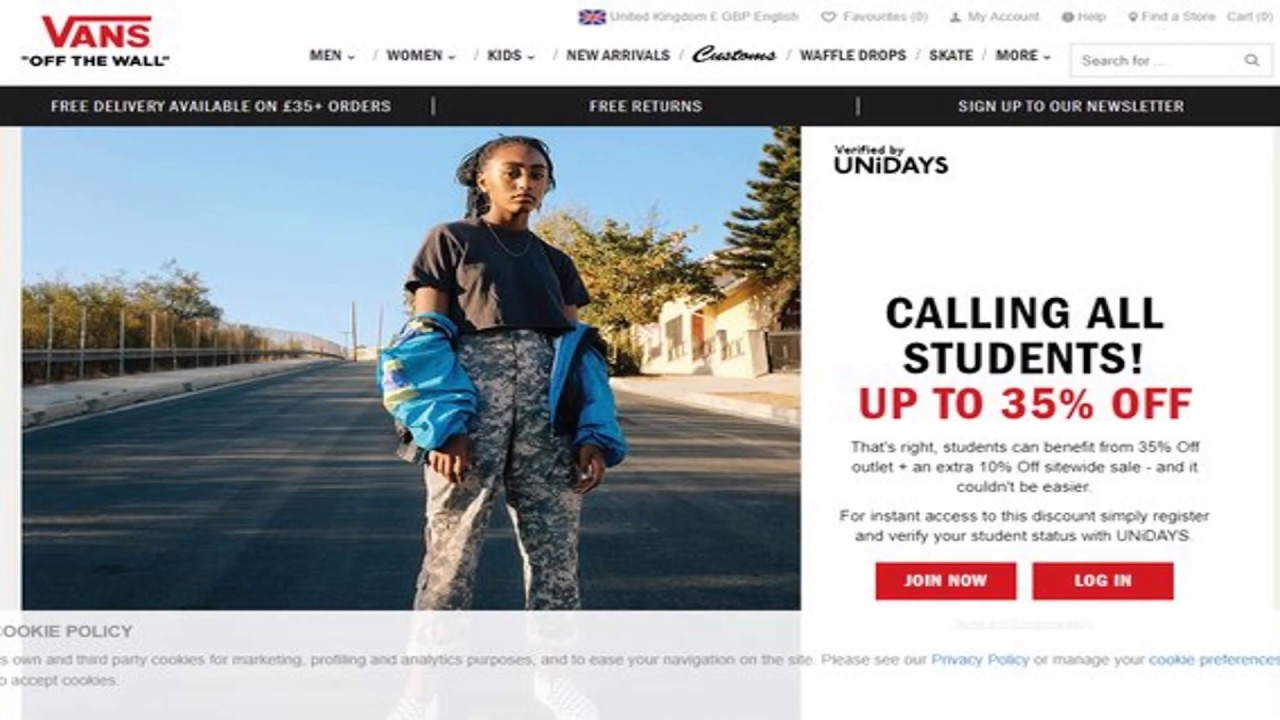 9b9226410c Vans Student Discount Codes | 30% Off & Free Delivery (June 2019)