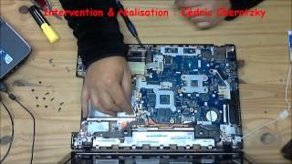 Acer Aspire 5750G nettoyage ventilateur et charnière