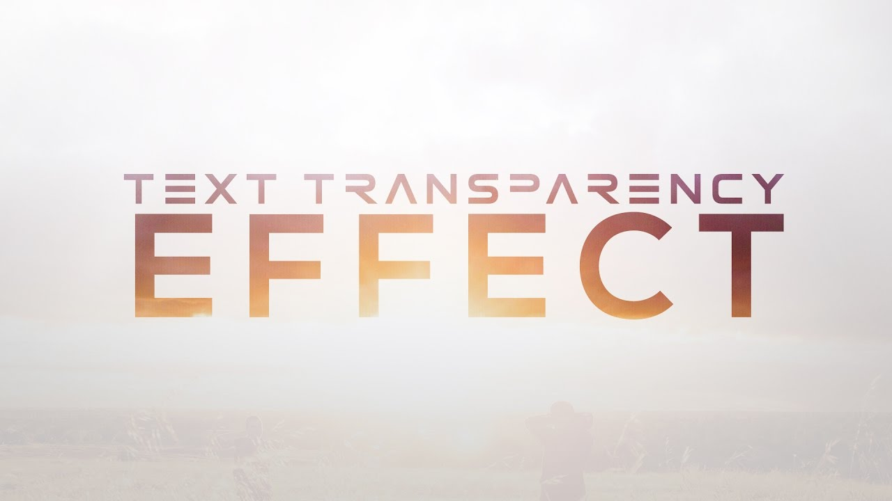 Text Transparency Effect using Adobe Photoshop CS6/CC! (2016/2017)