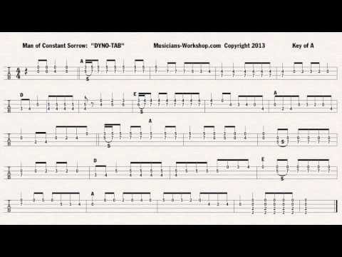 Man of Constant Sorrow Mandolin Solo Dyno-Tab™ - YouTube