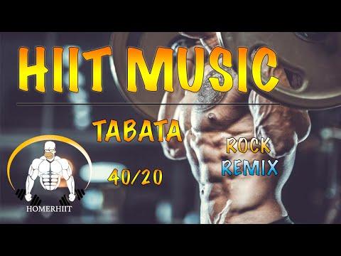 HIIT WORKOUT MUSIC 40/20 ROCK REMIX TABATA SONGS