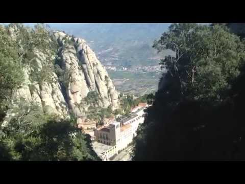 Viewing Montserrat Monastery from the top...