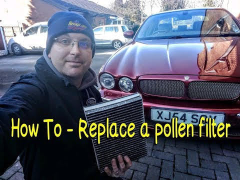 How To — Replace a pollen/cabin filter on a Jaguar XJ (X350)