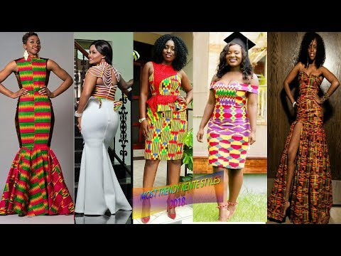 African Kente Dresses 2018: Most Trendy #Kente #Dresses Make you the Headlines Lovely and Cute