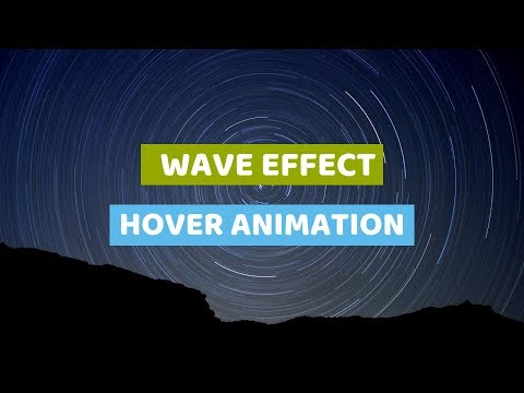 Wave Effect hover Animation on Mouseover | CSS Animation Tutorial