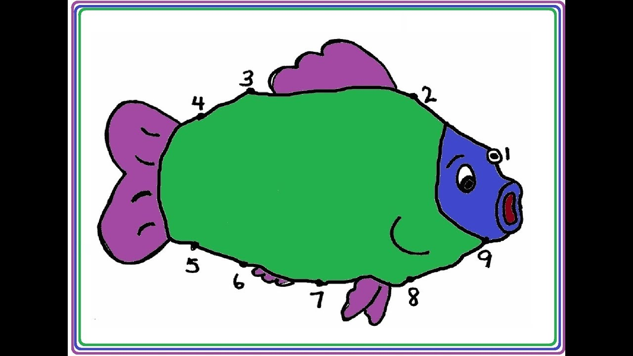 Learn To Color With Fish | Coloring Pages for Kids | Coloring ...