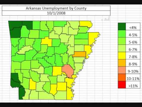 Arkansas Unemployment by County October 2013