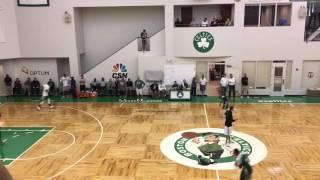 Boston Celtics do 2-on-1 drills