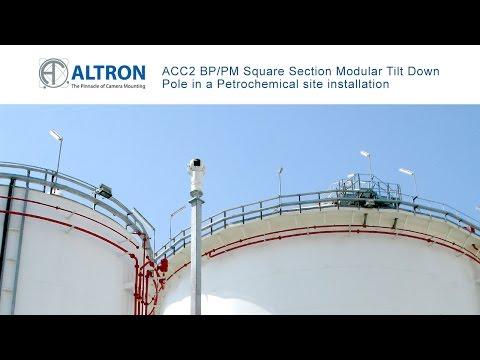 Altron ACC2 Modular Tilt Down Pole in a Petrochemical Field Installation