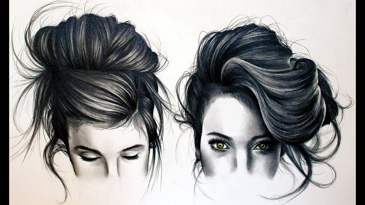 How To Draw Tumblr Black Hair - YouTube