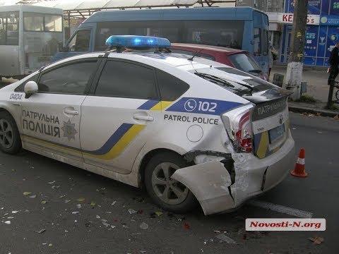 Полицейский приус снова попал в ДТП!!