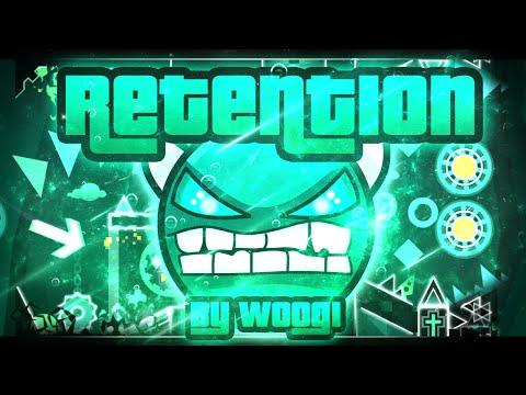 Geometry Dash - Retention 100% GAMEPLAY Online (Woogi1411) INSANE DEMON